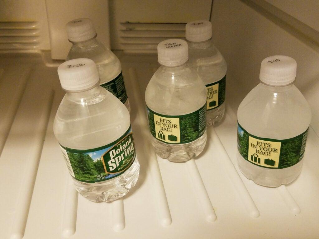 Frozen water freezer