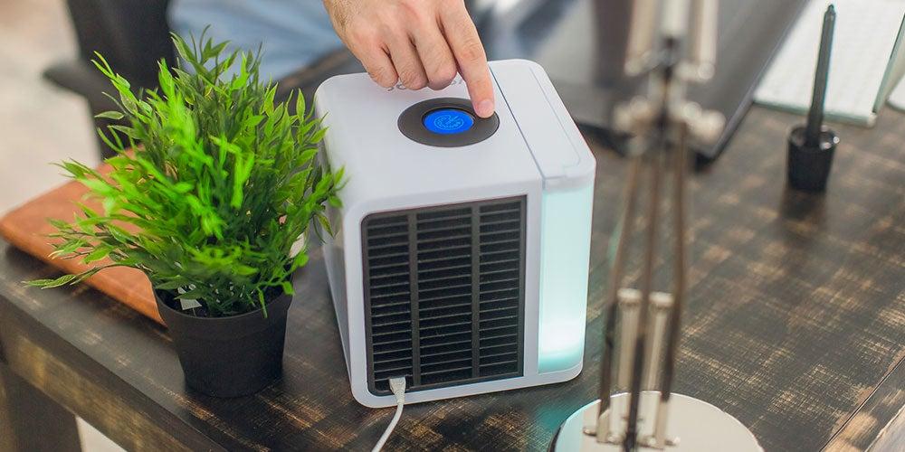 This desktop air conditioner doubles as an air purifier