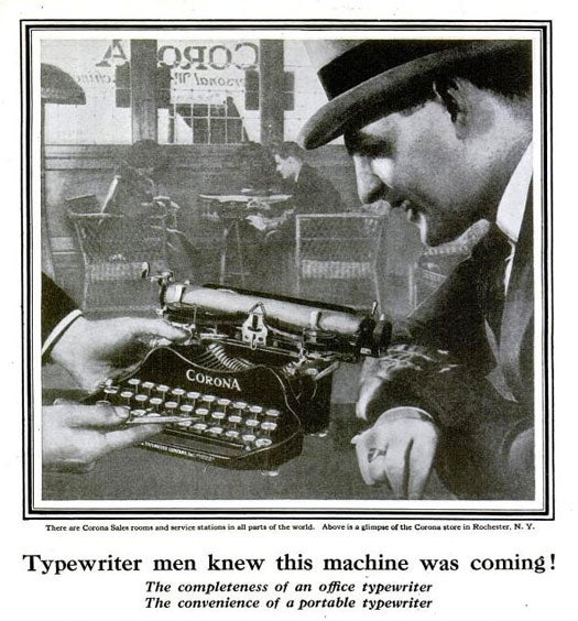 Corona Typewriters: March 1923