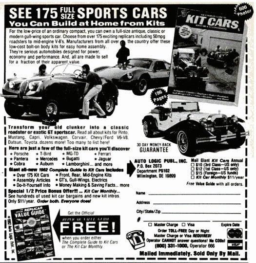 DIY Sports Cars: October 1982