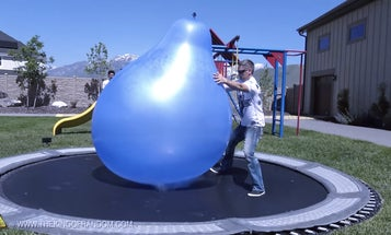 Watch What Happens When You Fill A Giant Balloon With Liquid Nitrogen