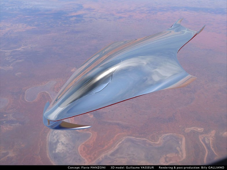 Look At This Ferrari Designer's Slick Spaceship Idea