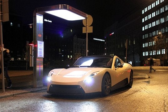Finland's All-Electric Race Car Charges in Just 10 Minutes