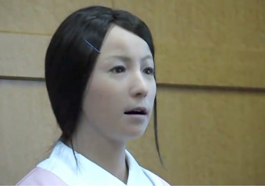 """Video: Creepy Japanese Expression-Mimicking Robot Hangs Out In Hospitals, """"Comforting"""" Patients"""