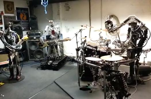 Humanoid Robots Play Motorhead's Ace of Spades