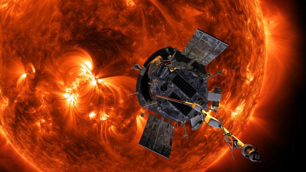 The Parker Space Probe flies toward the Sun