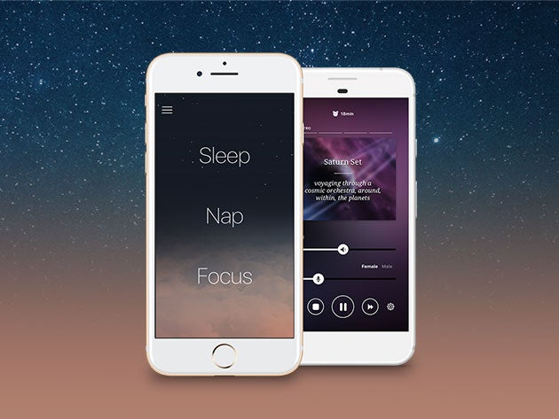 This app uses psychoacoustic sounds to help you relax and sleep better at night