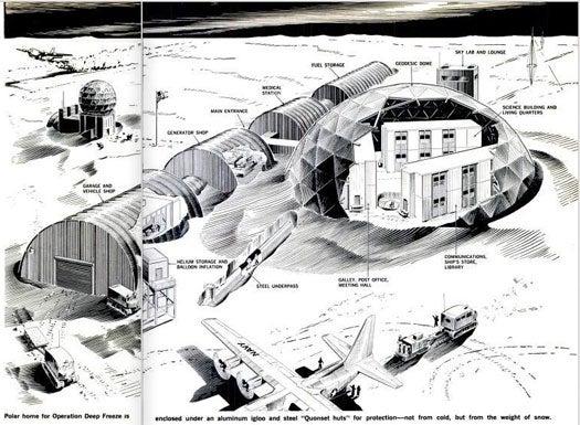 Antarctic Dome: August 1971