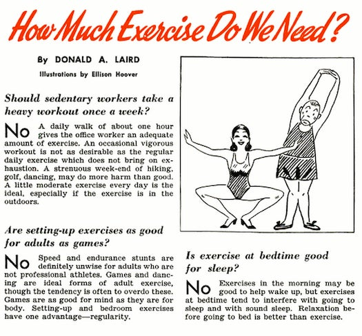 May 1941: Eat Ice Cream Before Exercising or Replace it With Shopping