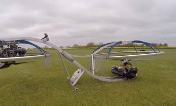 Watch A Guy Fly A Homemade Hoverbike Around His Backyard