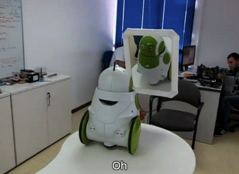 Video: Qbo Robot Learns to Recognize Itself in a Mirror