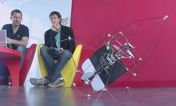 Video: Swiss Flying Torpedo Bot Crashes, Dusts Itself Off and Flies Again