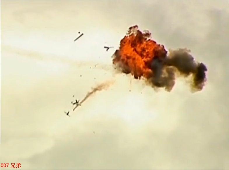 Target Practice: Chinese Helicopter Tests Shooting Down Drones