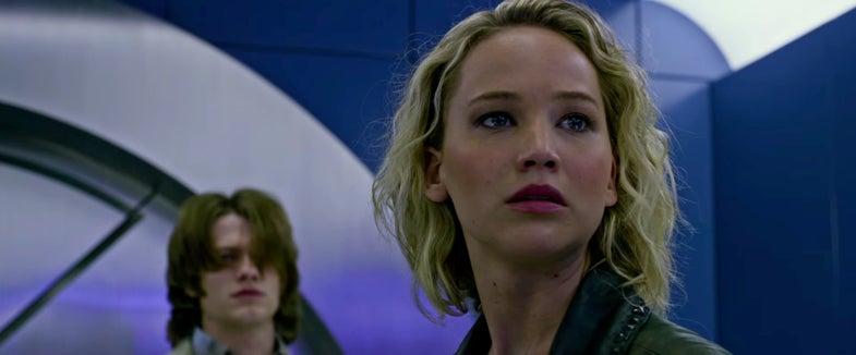 'X-Men Apocalypse' trailer screenshot with Jennifer Lawrence as Mystique