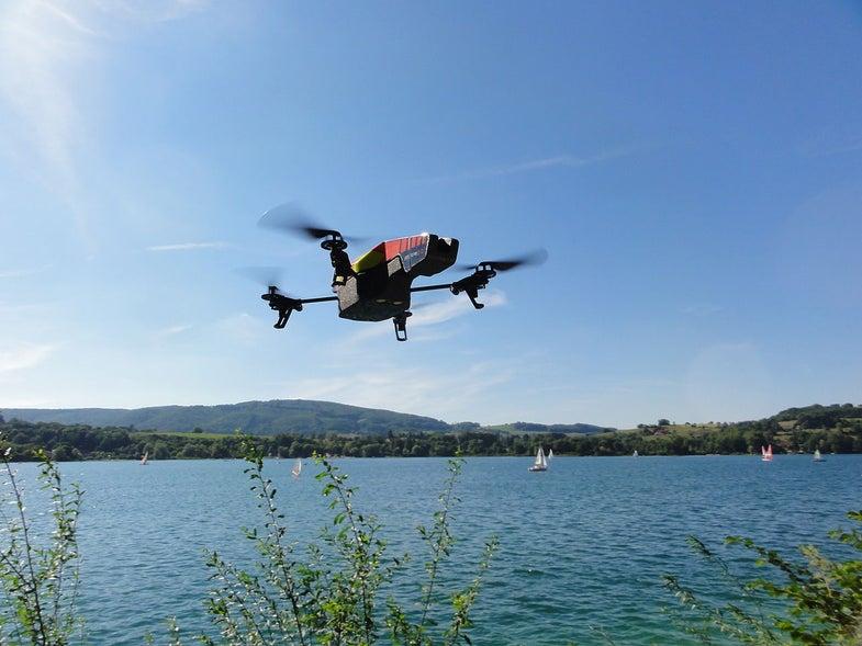 Parrot AR Drone 2.0 In Flight