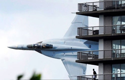 Close-Range F/A-18 Flyby Causes Freakouts, Coffee-Spitting in Detroit Apartment Building