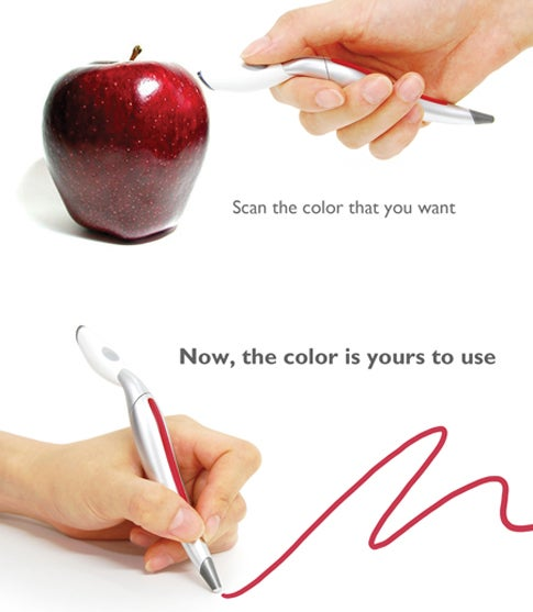 Color-Picking Pen Concept Imagines Real-World Photoshop Eyedropper Tool