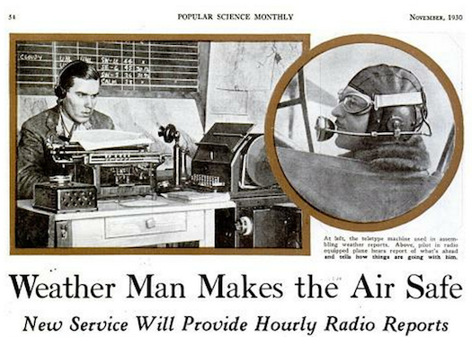 Keeping Pilots Updated, November 1930