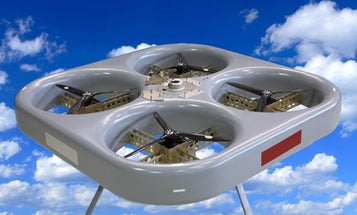 Hovering Vehicle Can Launch an Observation Platform 300 Feet Skyward