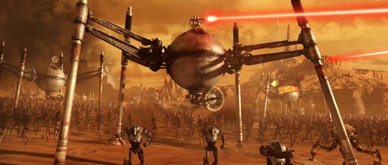 Star Wars and Walking Robots
