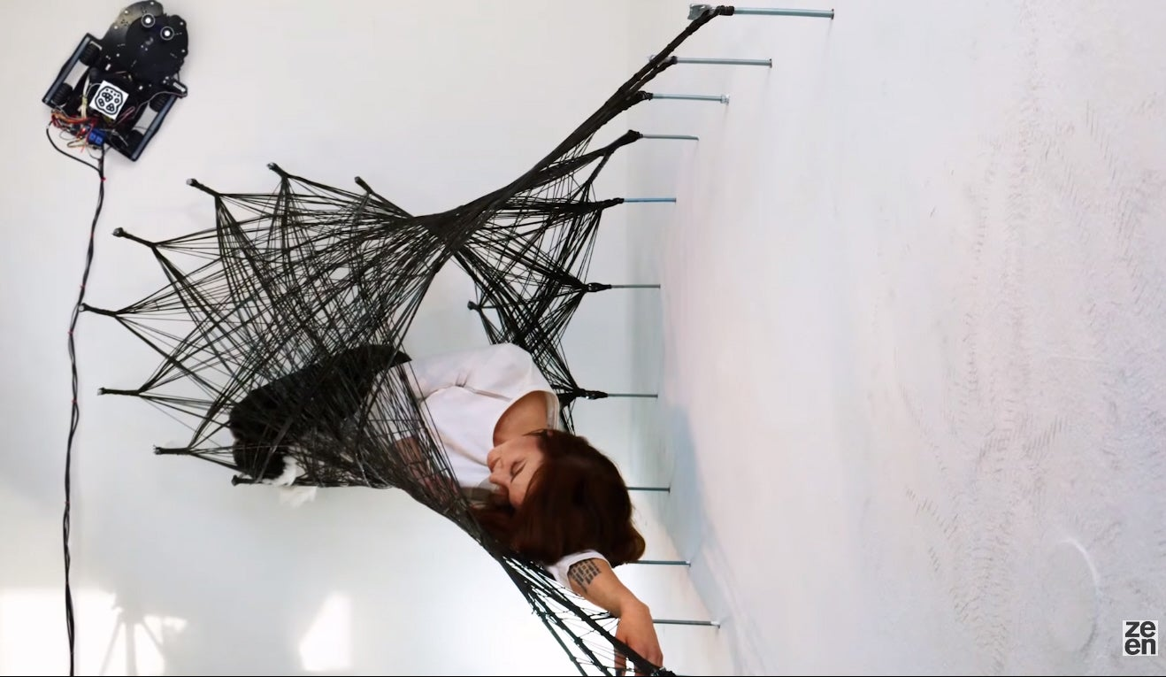 Spidery Robots Weave 'Impossible' Carbon Fiber Structure