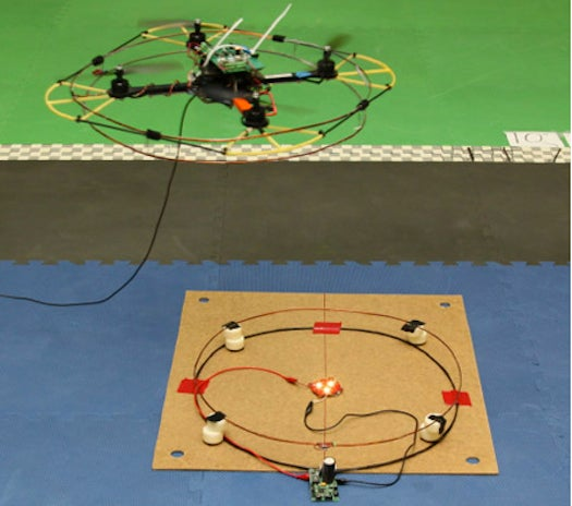 Video: Quadrotor Drone Flies Around To Your Devices And Charges Their Batteries