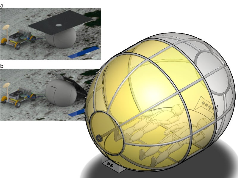 An Inflatable Tent For Camping On The Moon