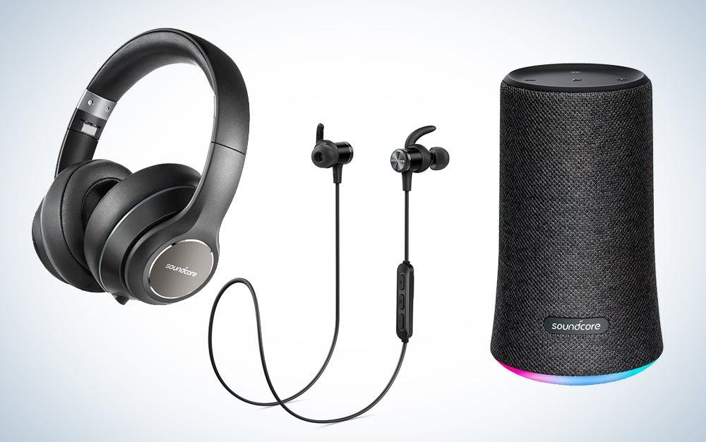 Anker headphones and speakers