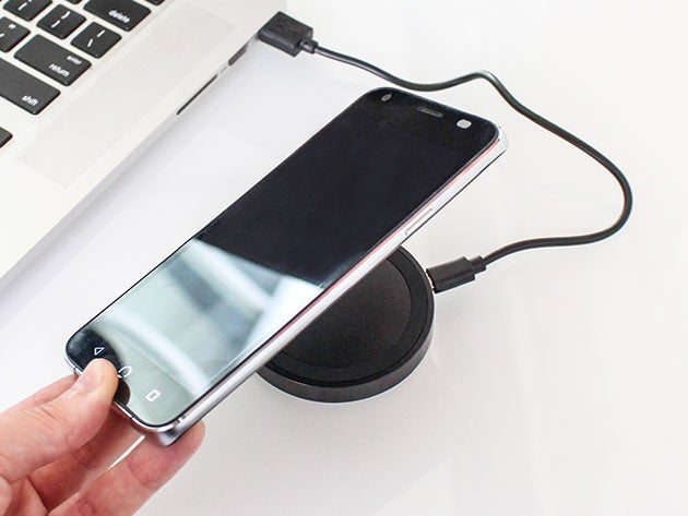 Upgrade to wireless with this Mini Qi smartphone charging pad