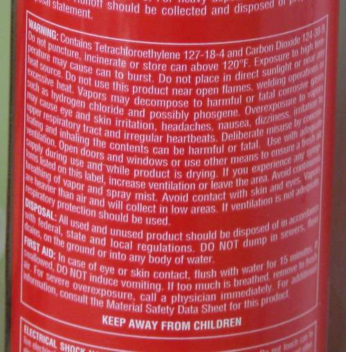 Brake Cleaner Can Kill: When to Take Safety Warnings Seriously