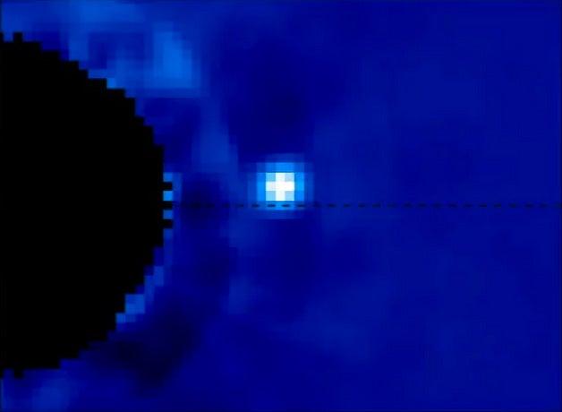 Watch An Exoplanet Orbit Its Distant Star