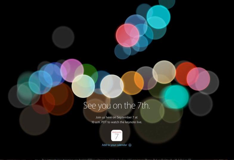 Apple Sept 7 event