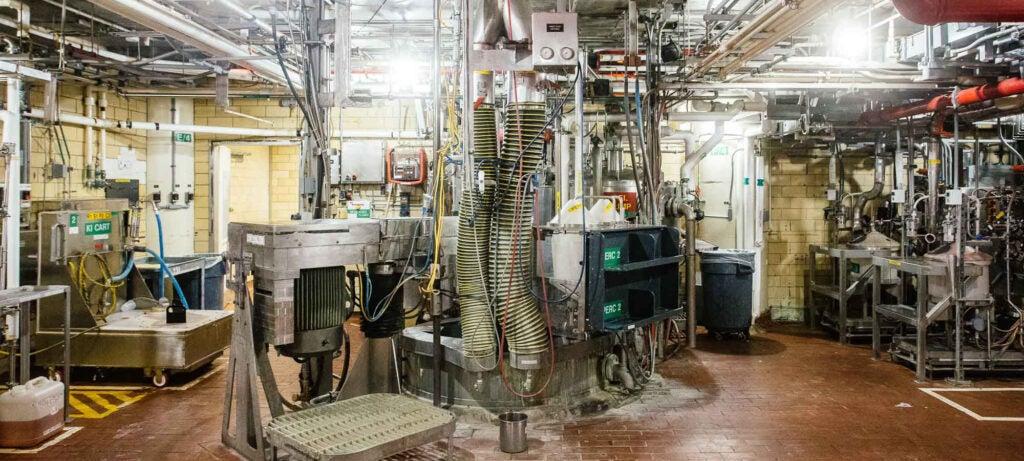pumps in the precipitation room