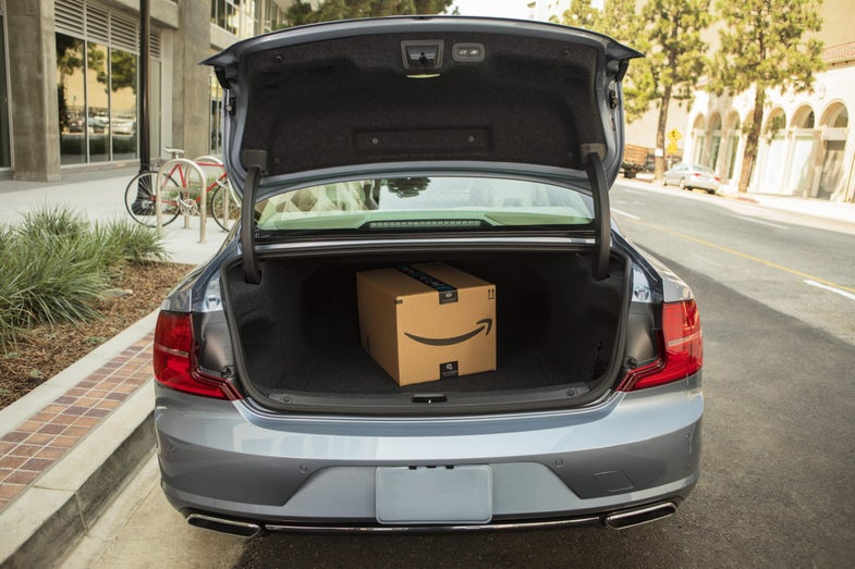 Amazon trunk delivery key