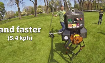 Bipedal Robot ATRIAS Takes First Steps Outside