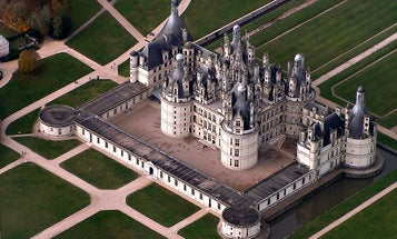 Drone Films Flooded French Castle