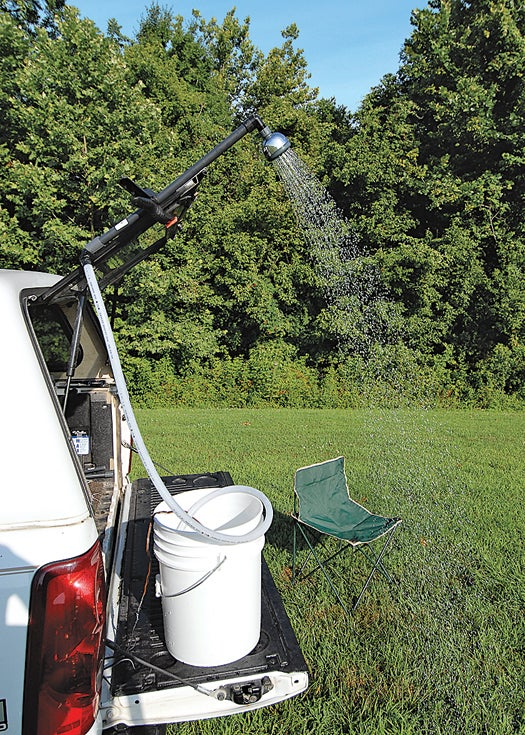Simple Project Of The Month: The DIY Camping Shower