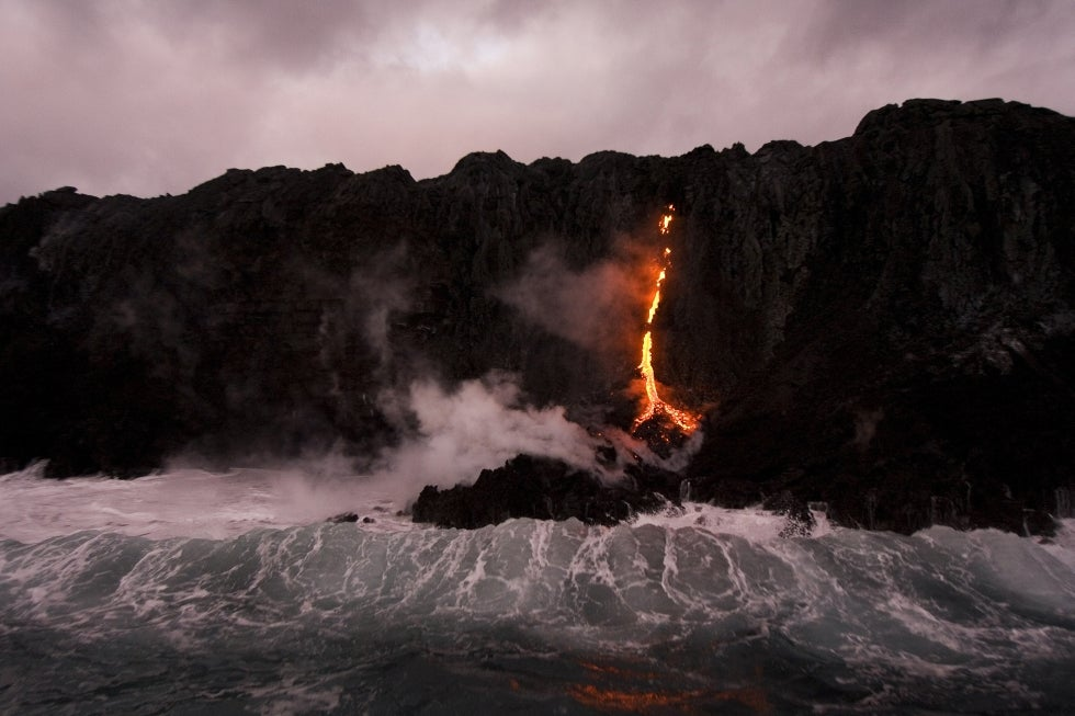 As Kilauea Volcano Spews Lava Into The Ocean, Tourists Flock To The Scene