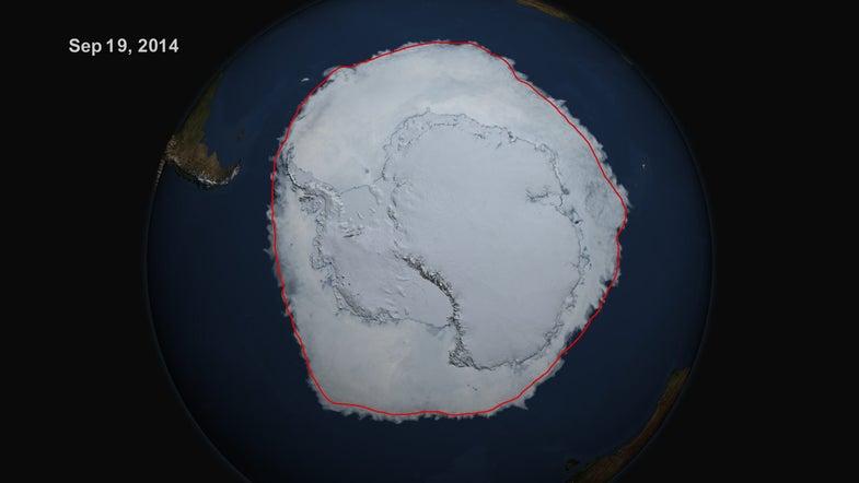 Video: Despite World Ice Loss, Antarctic Ice Cover Reaches Record Size