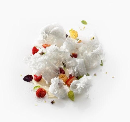 Recipe: Ewe's Milk Ice Cream With Textured Herb Buds From Mugaritz