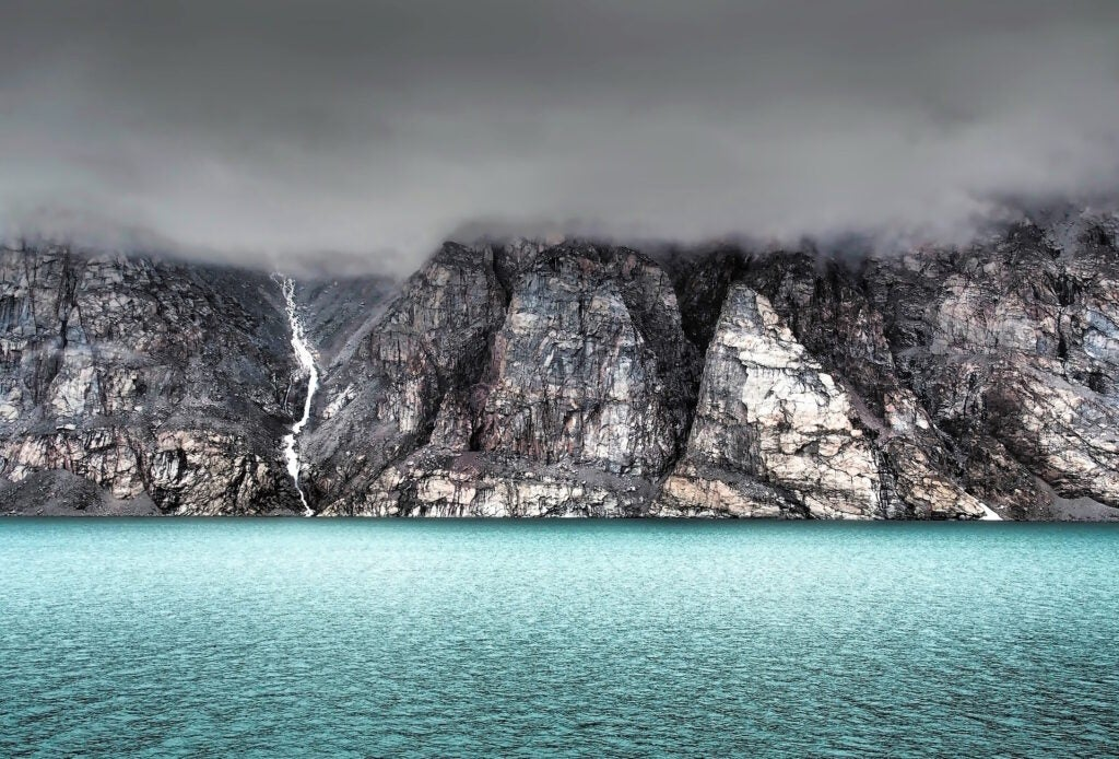 Waters off the coast of Baffin Island, Canada, near Greenland.