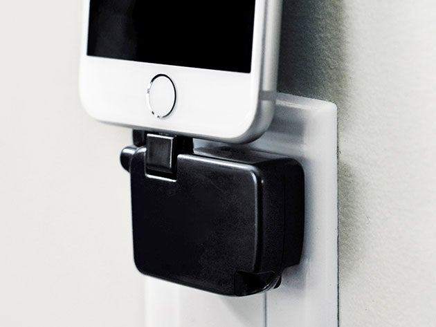 The Chargerito Is compact, cordless, and charges your phone directly from the outlet