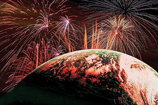 FYI: What Would Happen If You Shot Off Fireworks In Space?