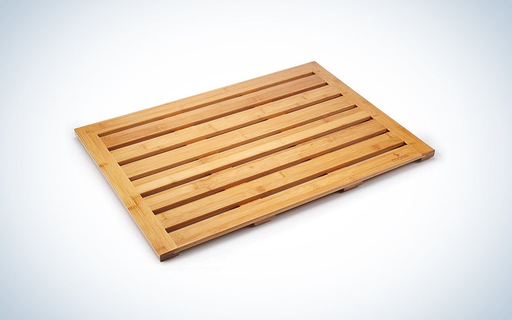 Moso Bamboo floor and shower mat