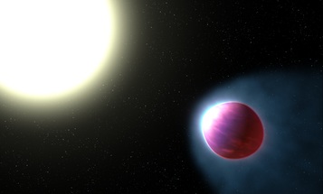 This giant exoplanet has a glowing atmosphere