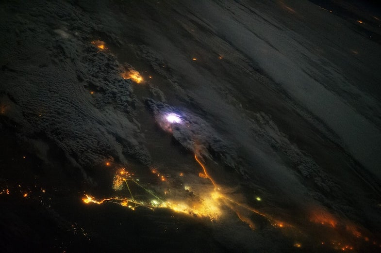 Big Pic: Lightning As Seen From The International Space Station