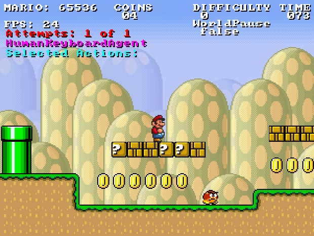Artificial Intelligence Software Learns to Play Super Mario Bros.