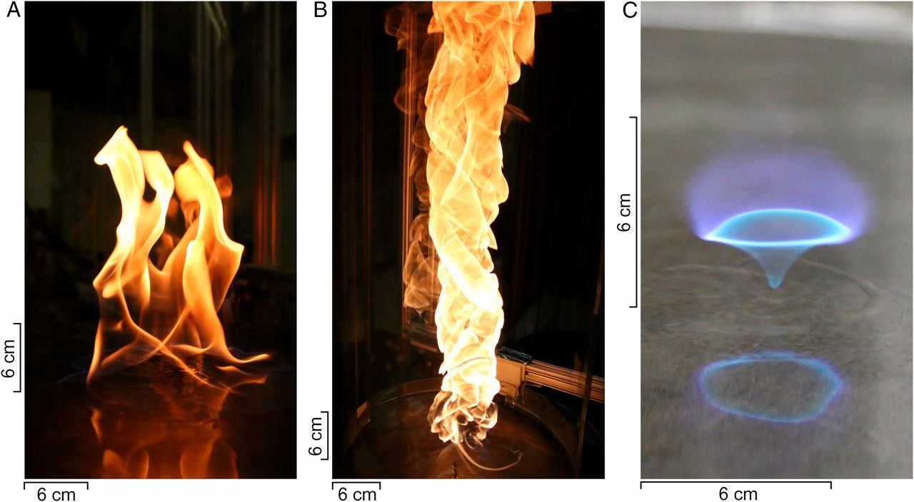 Gorgeous 'Blue Whirl' Flame Might Help Produce Cleaner Energy