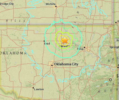 pawnee earthquake map