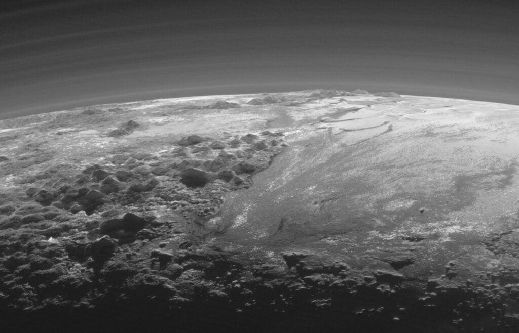 Pluto's mountains